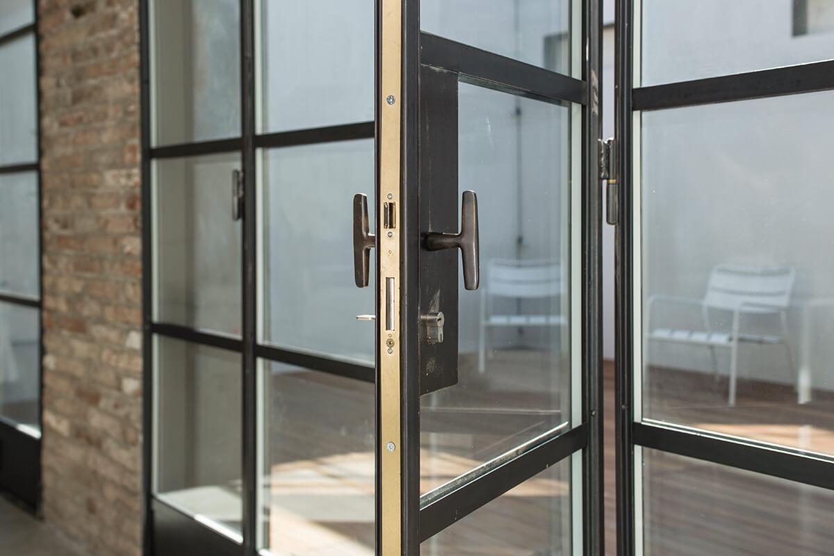 Custom handle Steel Windows and Doors Design Plus London
