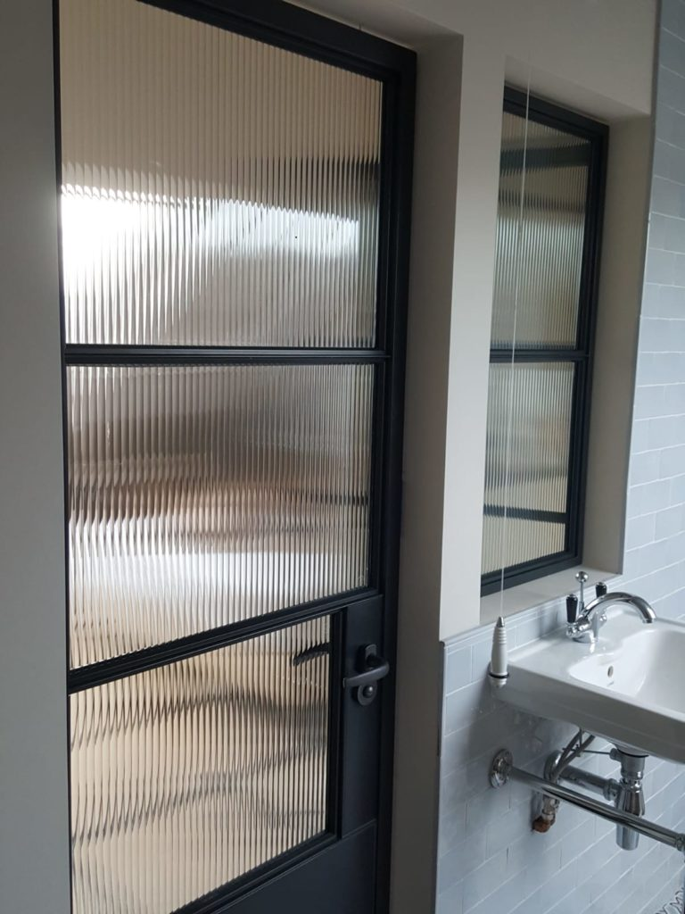 Steel Window and Doors with reeded glass Fulham 4