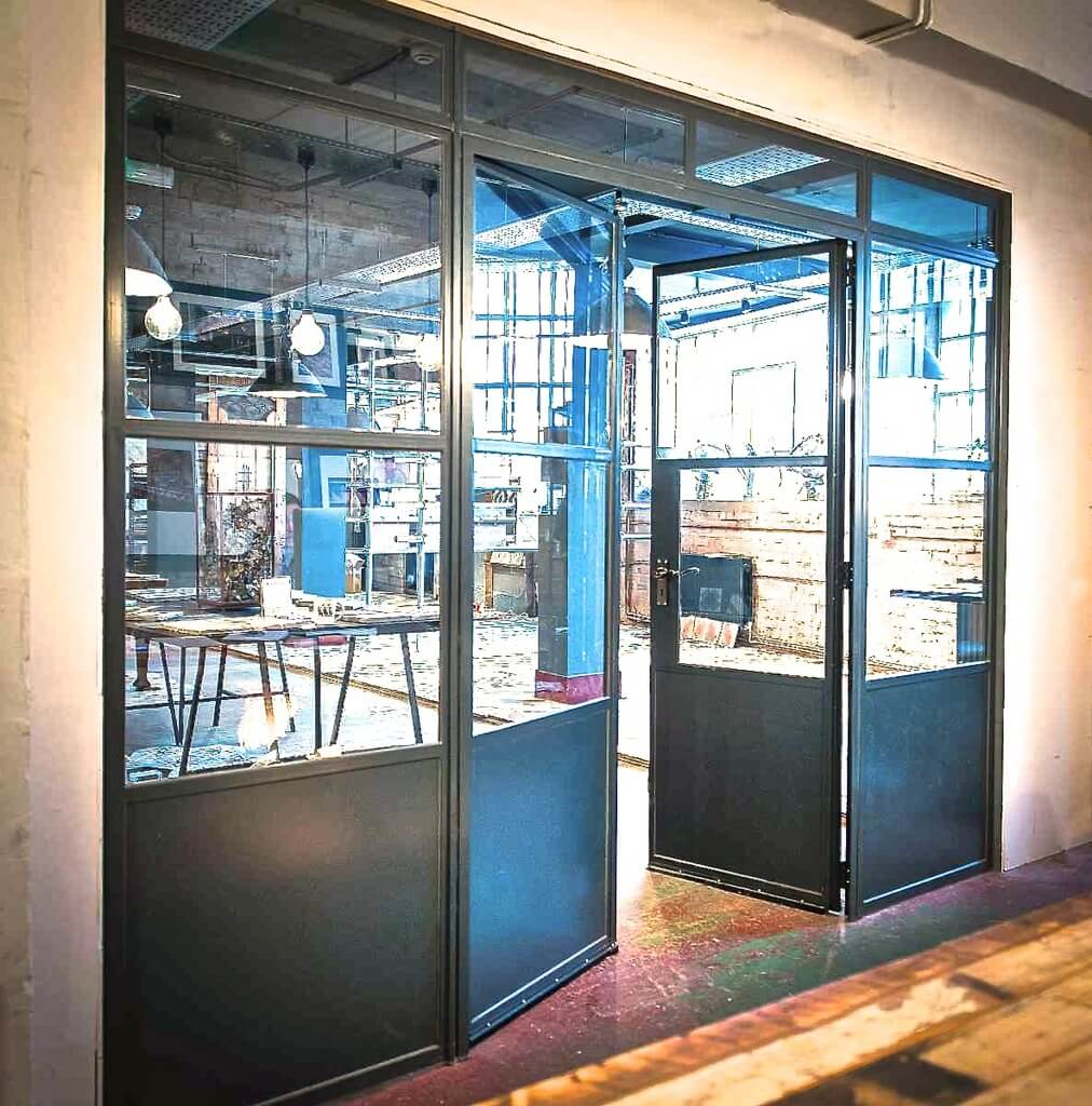 Bare metal internal doors Design Plus London