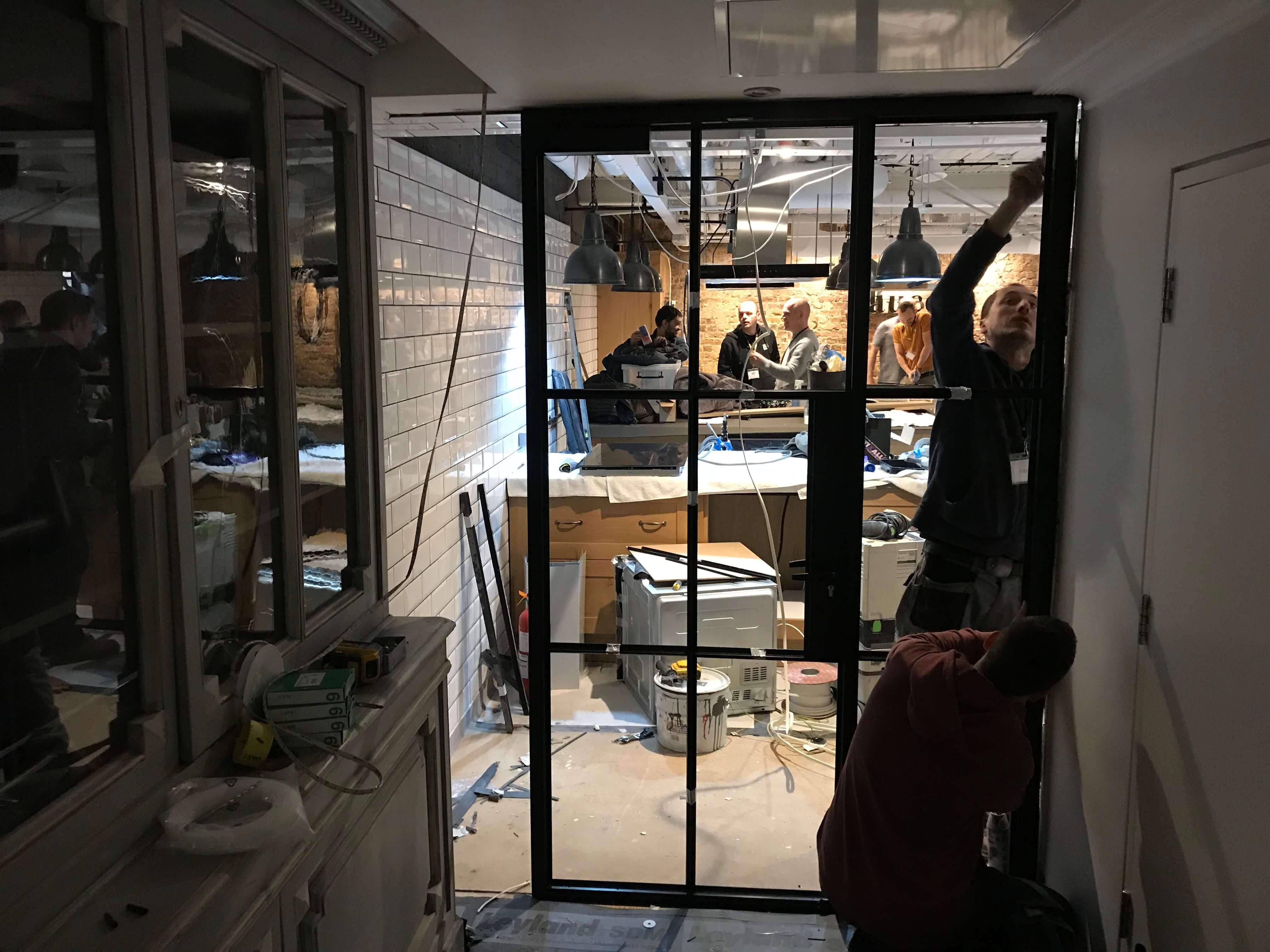 Steel Window and door installation Langham Hote Design Plus London