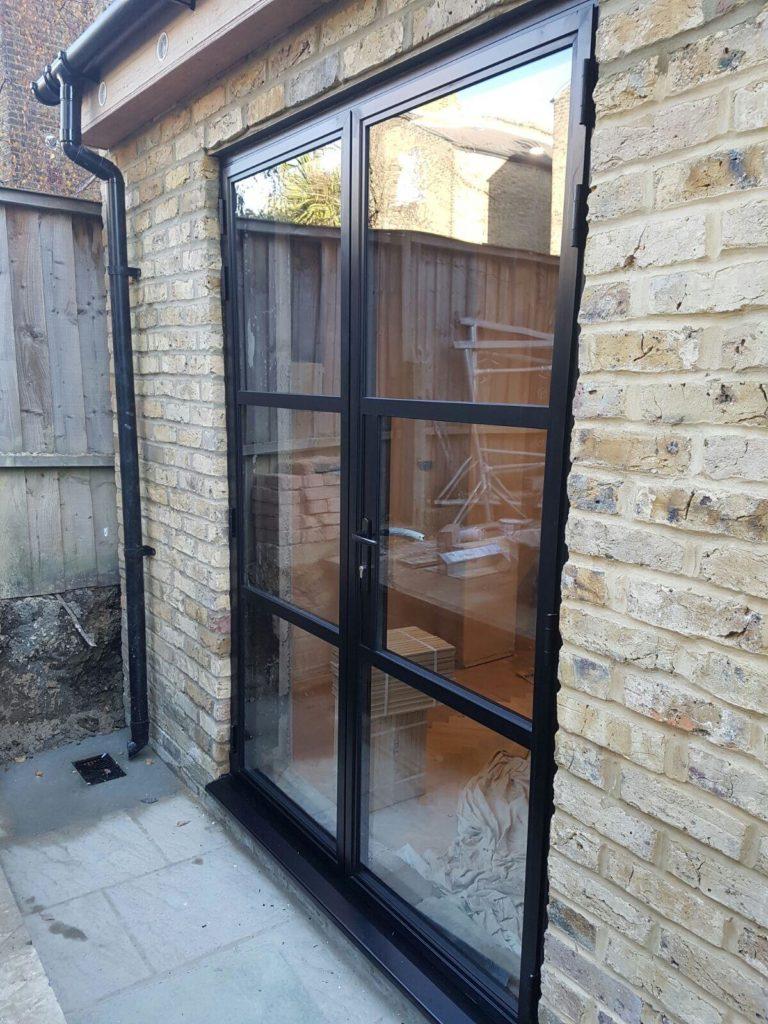 Aluminium Heritage double doors Design Plus London