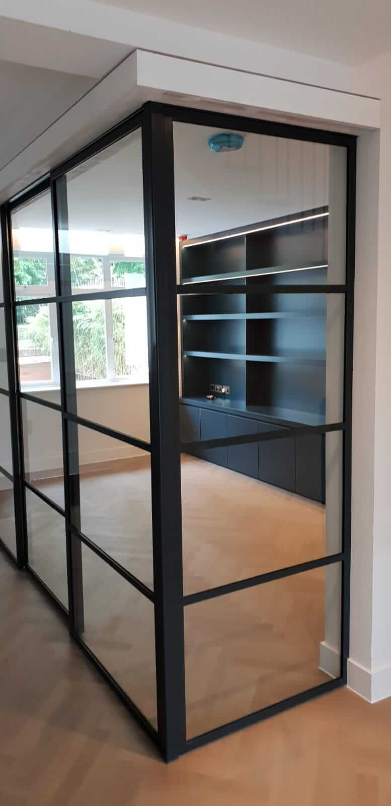 Crittall Steel corner partition NW8 Design Plus London