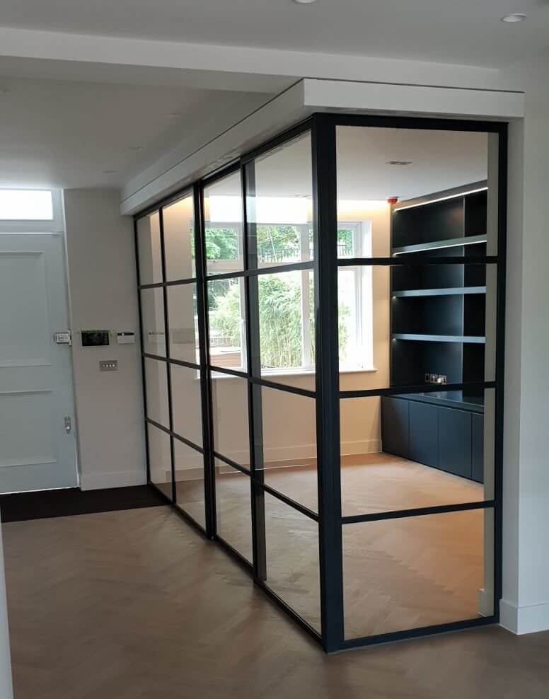 Internal metal partition by Design Plus London