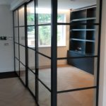 Crittall Steel sliding Door and Partition NW8 Design Plus London