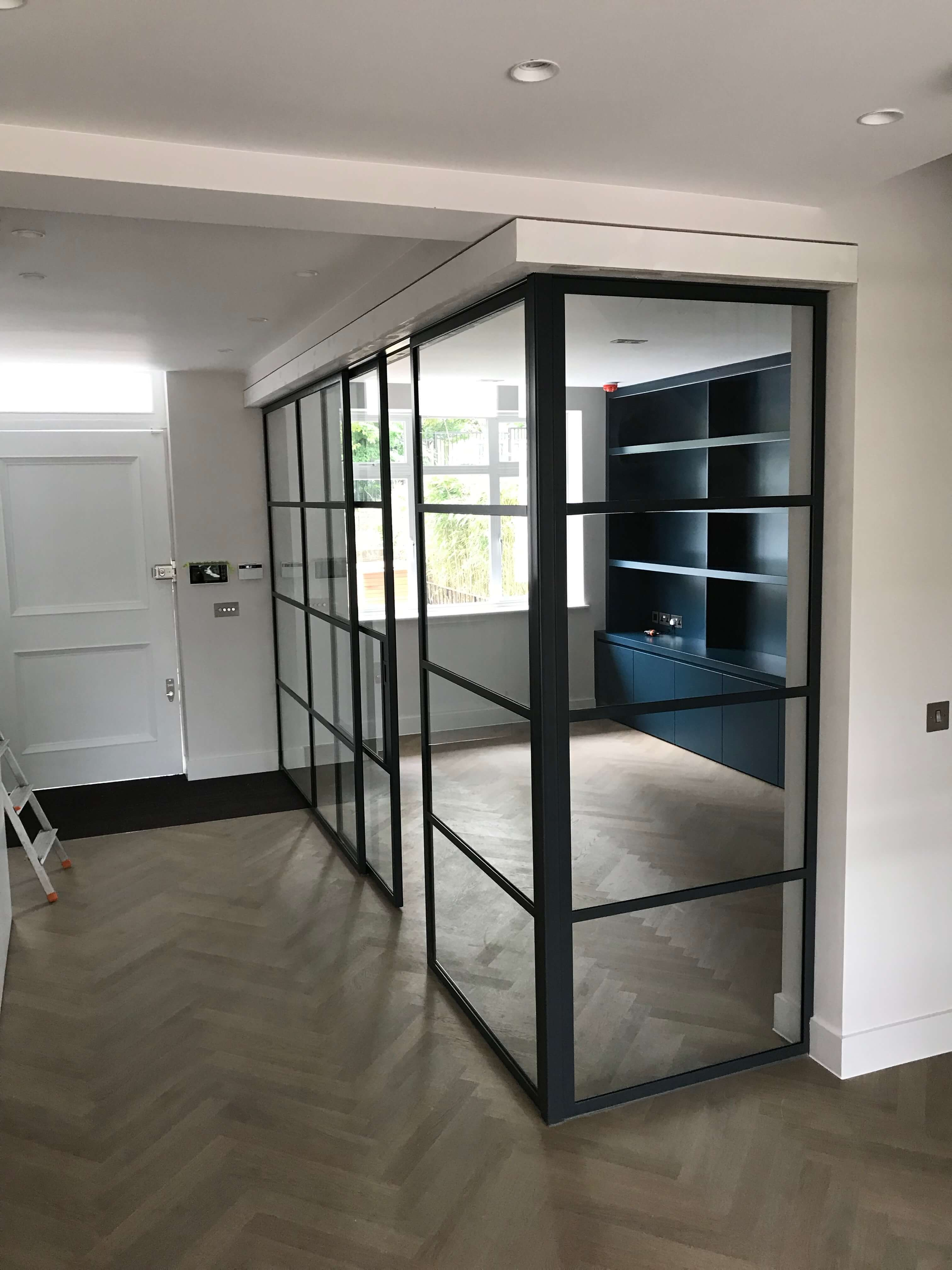 Crittall sliding pocket door and Partition Design Plus London 3
