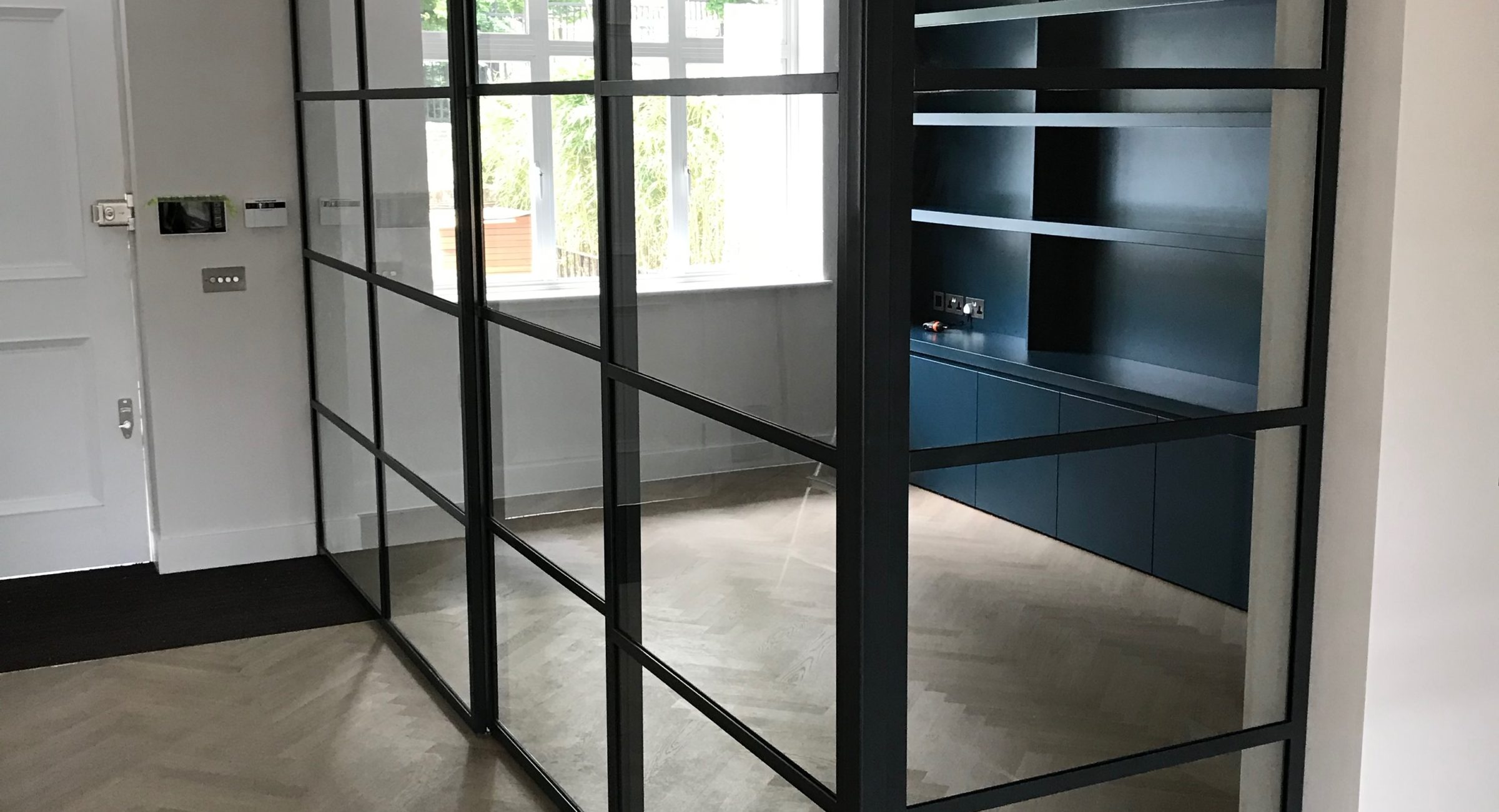 Crittall sliding door and Partition Design Plus London 4