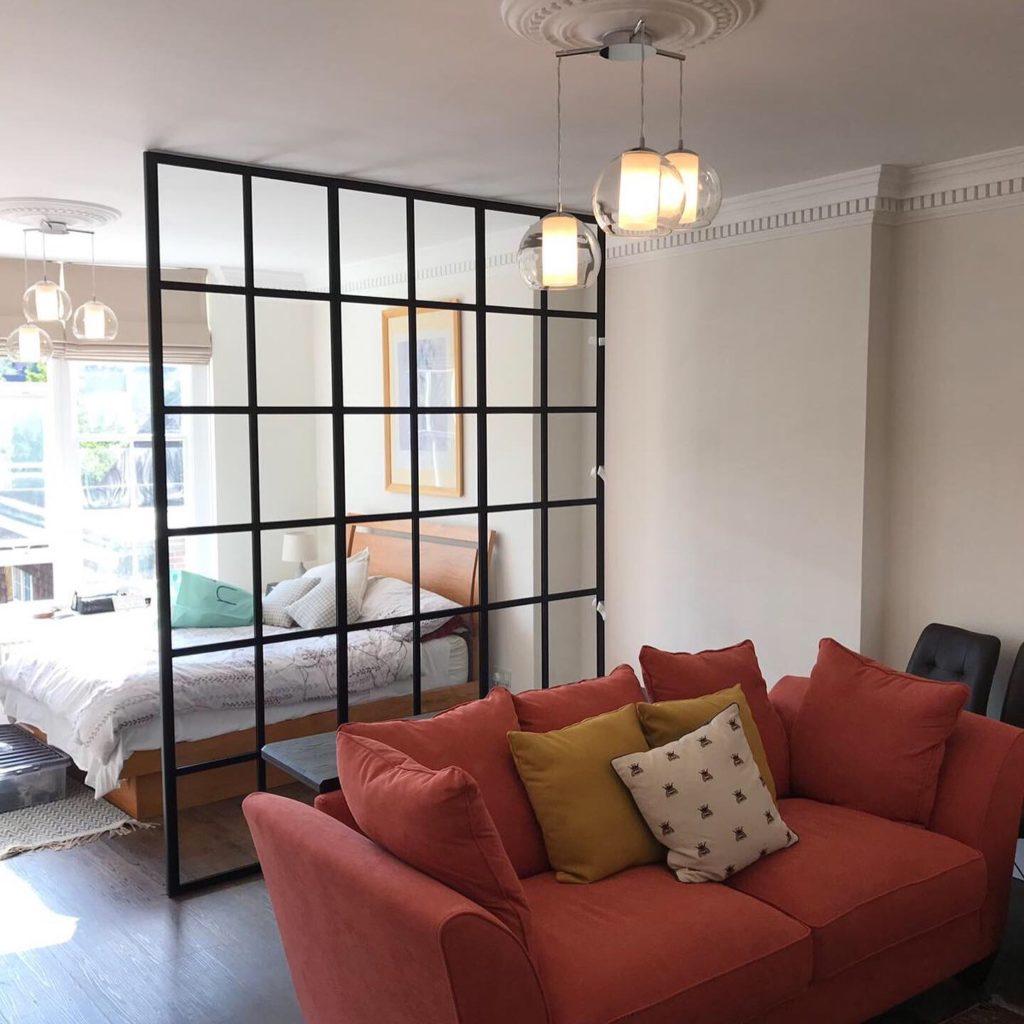 Stylish Black Steel partition 6 Design Plus London