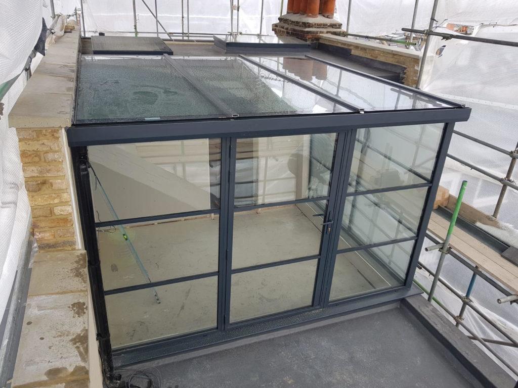 Crittall extension steel aluminium Black Design Plus London