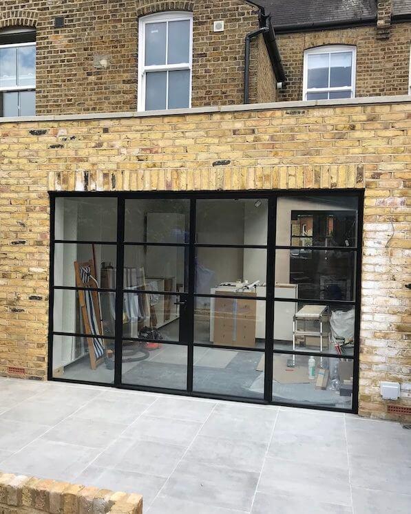SW London External W20 Black Steel Doors Design Plus London 2