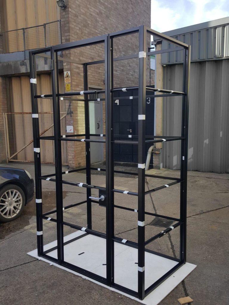 Black steel crittall style box furniture larder wardrobe Design Plus London