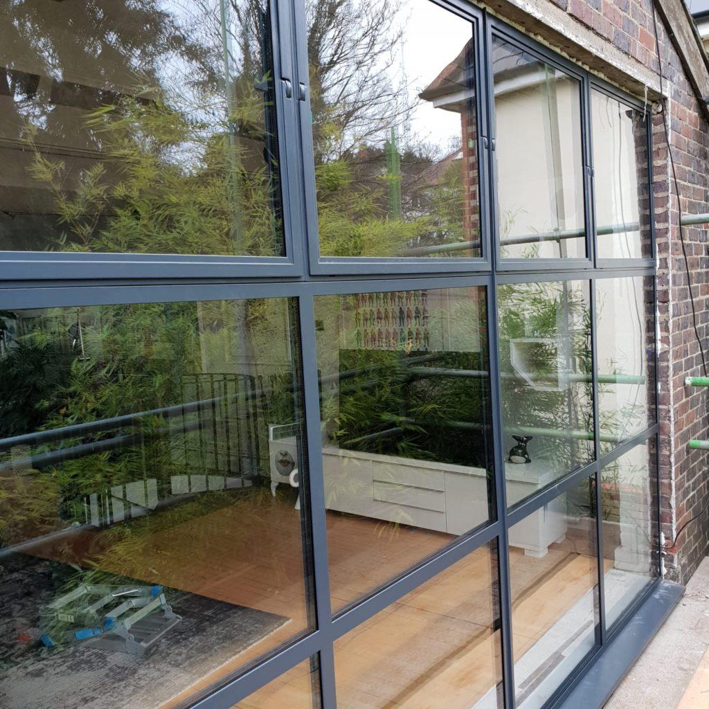 Black Steel crittall inspired doors Thermally Broken Windows W50 TB Design Plus London