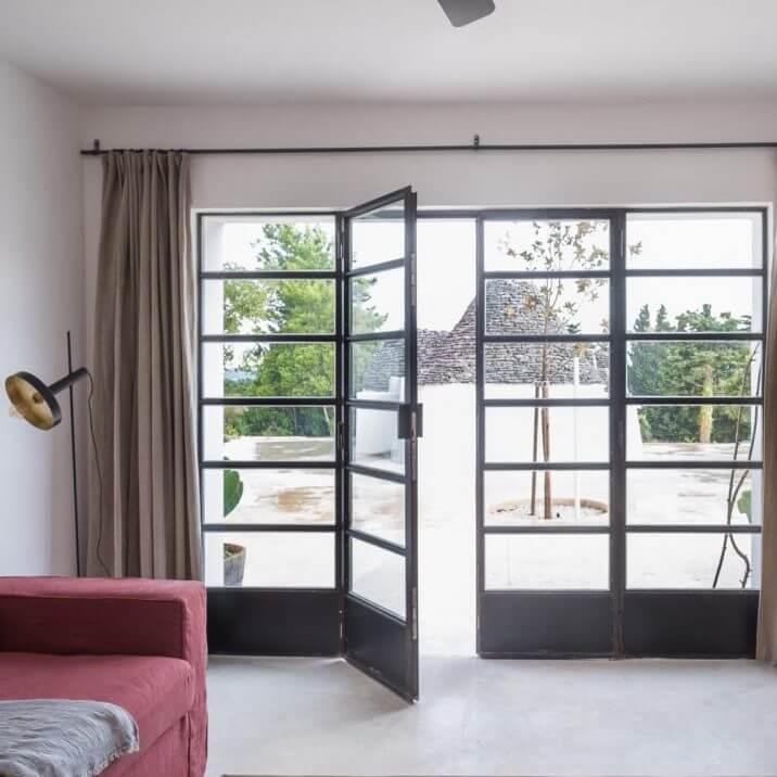 Steel windows and doors thermally broken Design Plus London