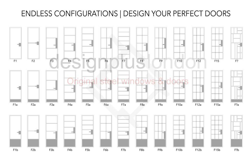 Black Steel Window Door Design W20 W40 W50 Thermal Break Crittall Jansen Forster FD30 Design Plus London
