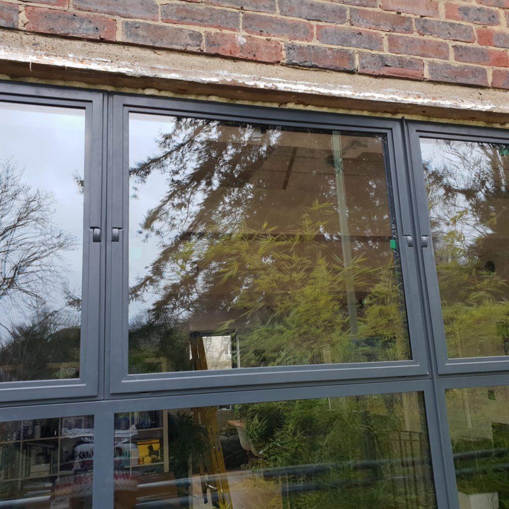 Steel Pivot window close up Crittall Windows inspired Design Plus London W20 W40