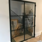 Internal Steel Crittall style Double Doors 30 minute fire integrity Design Plus