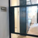 Crittall Black Steel Flush handle Design Plus London