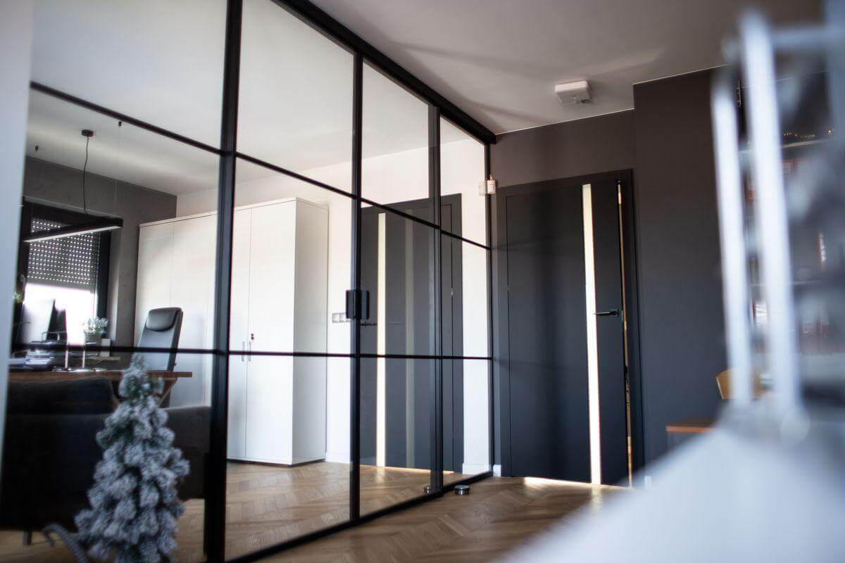 Internal Slim Steel Sliding Doors Design Plus 01