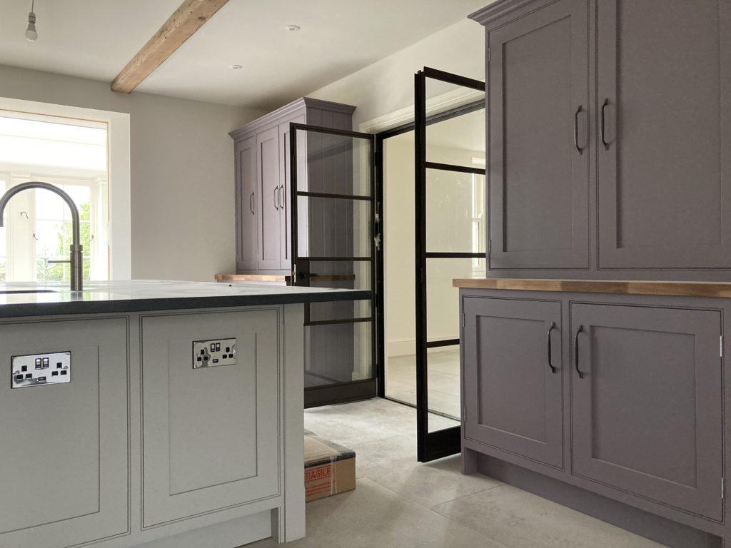 Internal Steel Double Doors in Bronze Design Plus 02