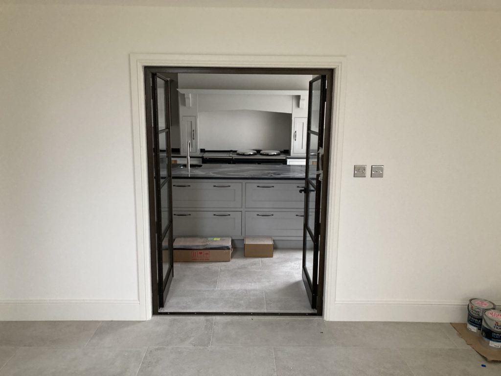 Internal Steel Double Doors in Bronze Design Plus 03