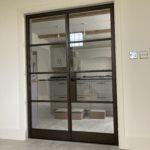 Internal Steel Double Doors in Bronze Design Plus 04