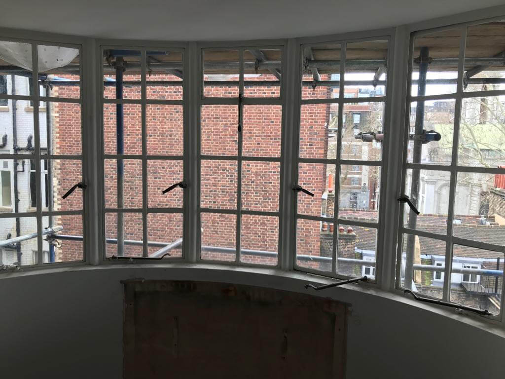 Old rusty traditional steel windows to be replaced with Design Plus Original Steel 1