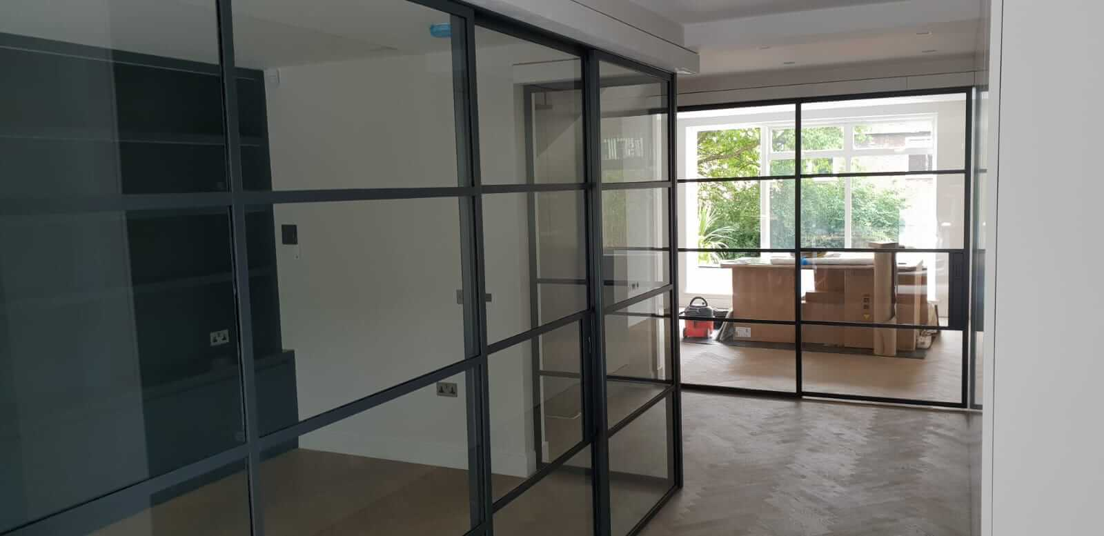 Original Steel sliding doors pocket doors DesignPlus