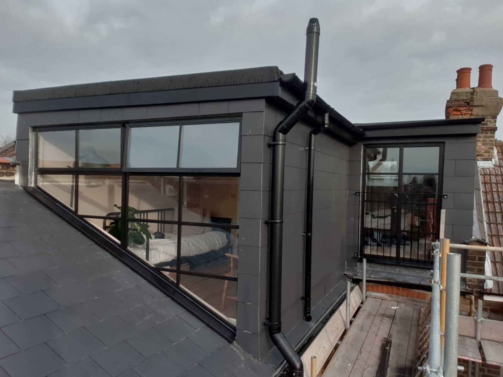 Black Steel Loft door and windows Design Plus London 3