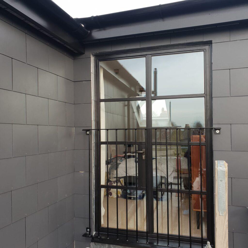 Black Steel Loft Double Doors Design Plus London 5