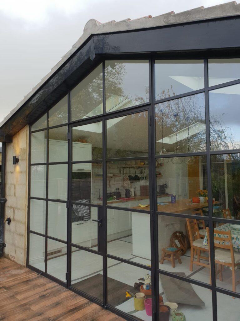 FRAN SW19 Design Plus Black Original Steel windows and doors