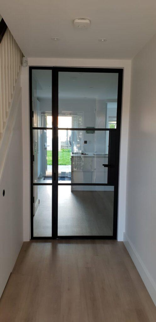 Fire Original Steel door and fixed panel Design Plus 02