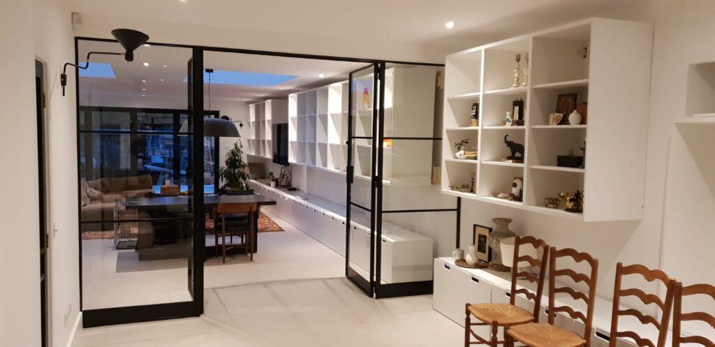 Internal Slim Steel Doors Design Plus London 05