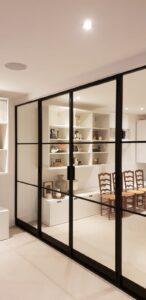 Internal Slim Steel Doors Design Plus London 06
