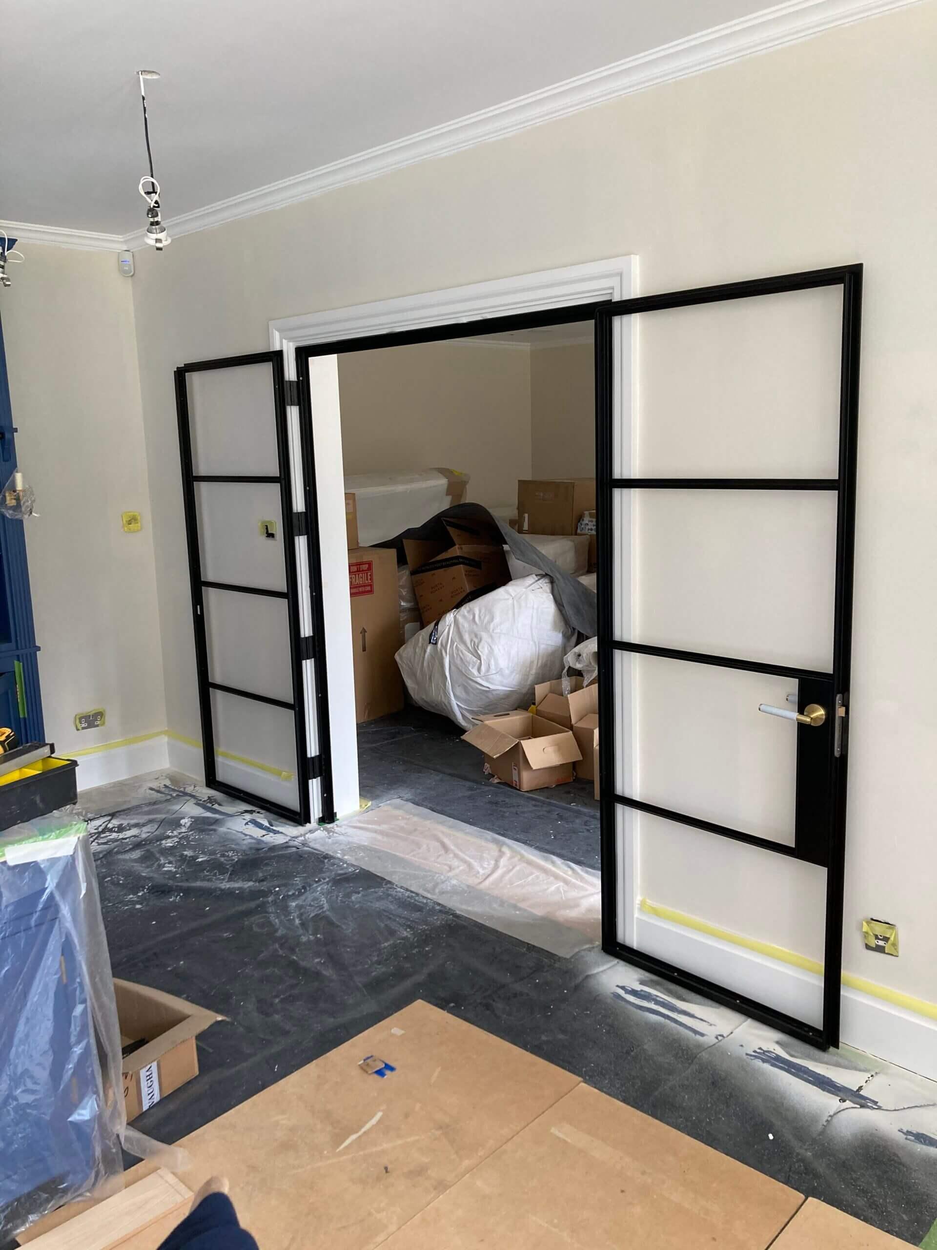Internal Steel French Doors Design Plus 01