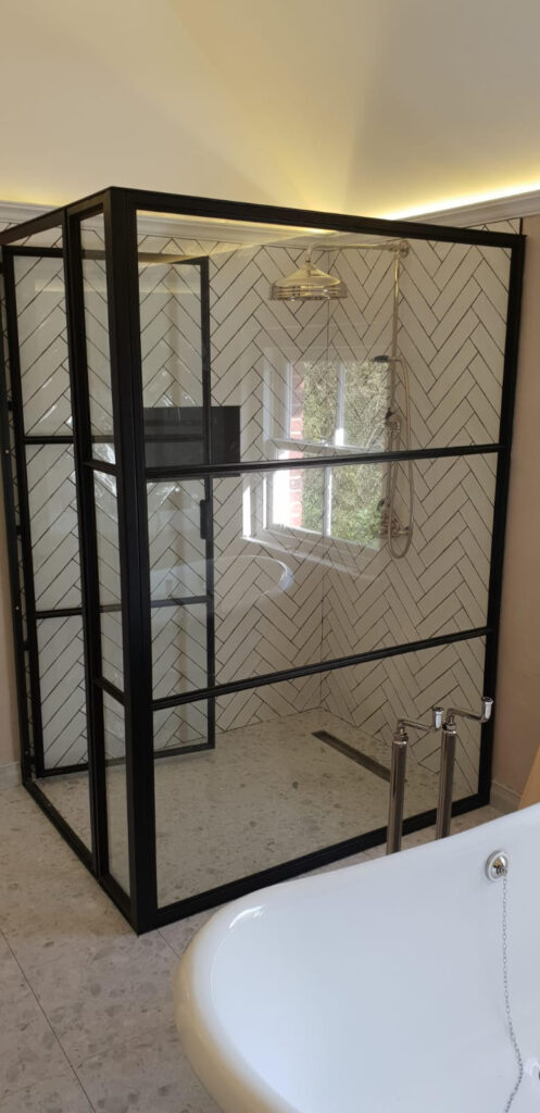 Internal Steel Shower Enclosure Design Plus London 01
