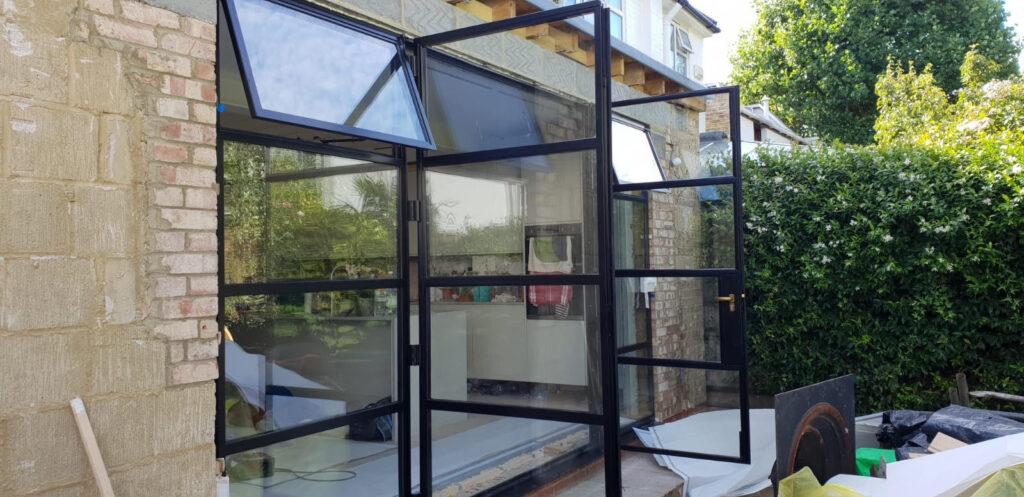 Original Steel 2 Doors Thermal Break W50 and Windows Design Plus 011 Secco Jansen Forster MHB