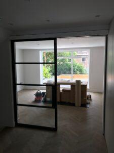 Original Steel Sliding Door open Design Plus London