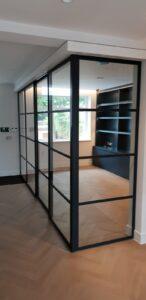 Original Steel Sliding Pocket Door and Partition NW8 Design Plus London