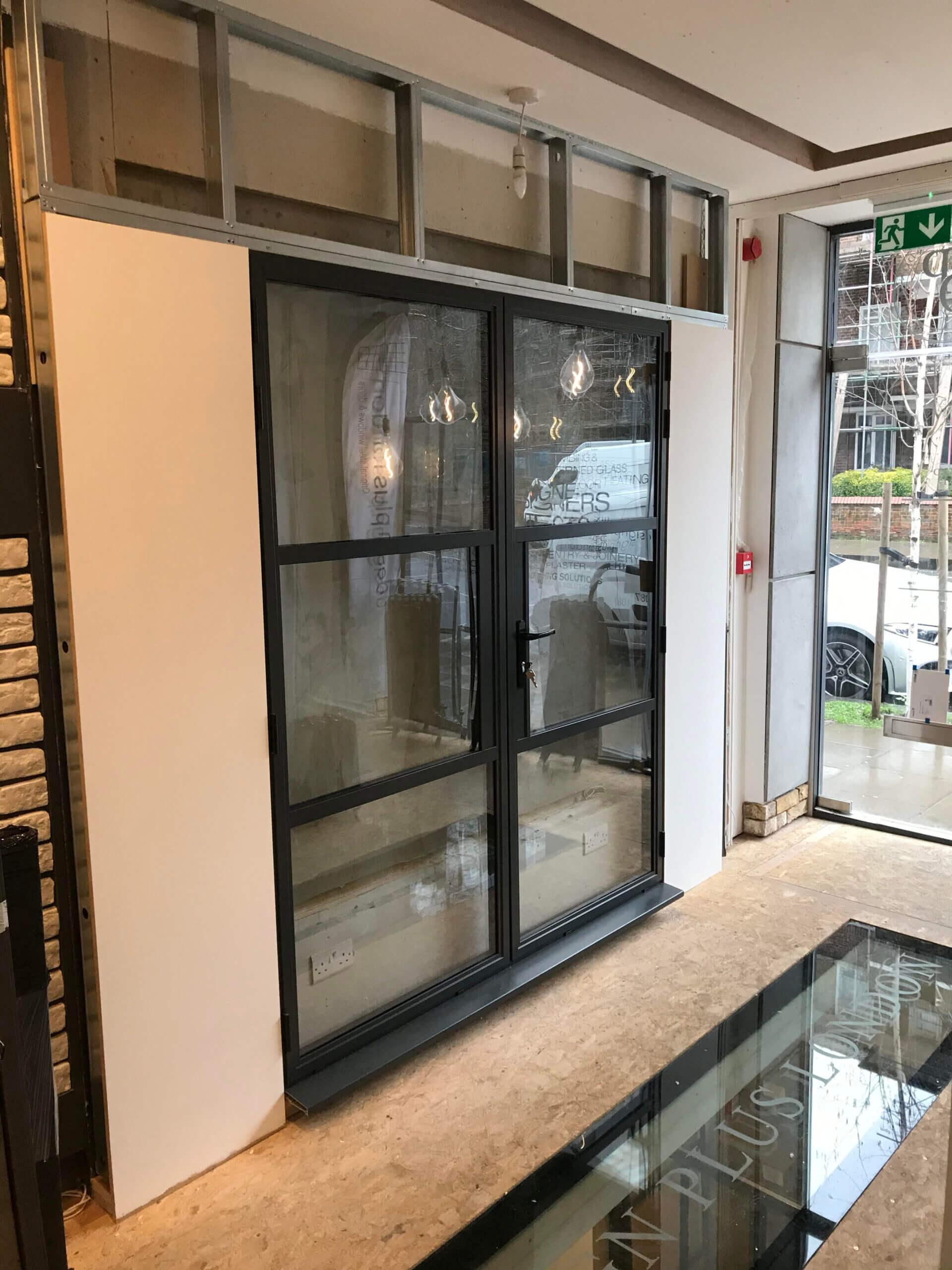 Steel replacement doors Showroom Design Plus London
